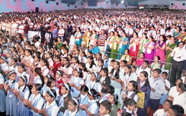 महालक्ष्मी मंदिर सारसबाग हजारो विद्यार्थ्यांचे सामूहिक श्री सूक्त व अथर्वशीर्षपठण