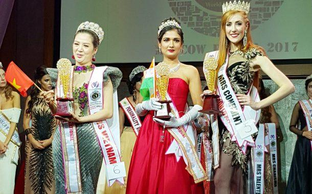 ईशा अगरवाल जिंकली माईलस्टोन मिस ग्लोबल वर्ल्ड इंटरनॅशनल पॅजन्ट  रशियामध्ये भारताची मान उंचावली