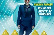स्कोर ट्रेंड्स इंडियाच्या चार्टवर फेब्रुवारी महिन्यात अक्षय कुमार अग्रस्थानी