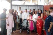 सिंधू सेवा दलाच्यावतीने  रुग्णांसाठी रुग्णपयोगी साहित्य भेट