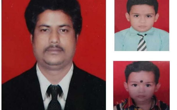 पोटच्या दोन मुलांचा गळा दाबून खून : वडिलांची  गळफास घेवून आत्महत्या …