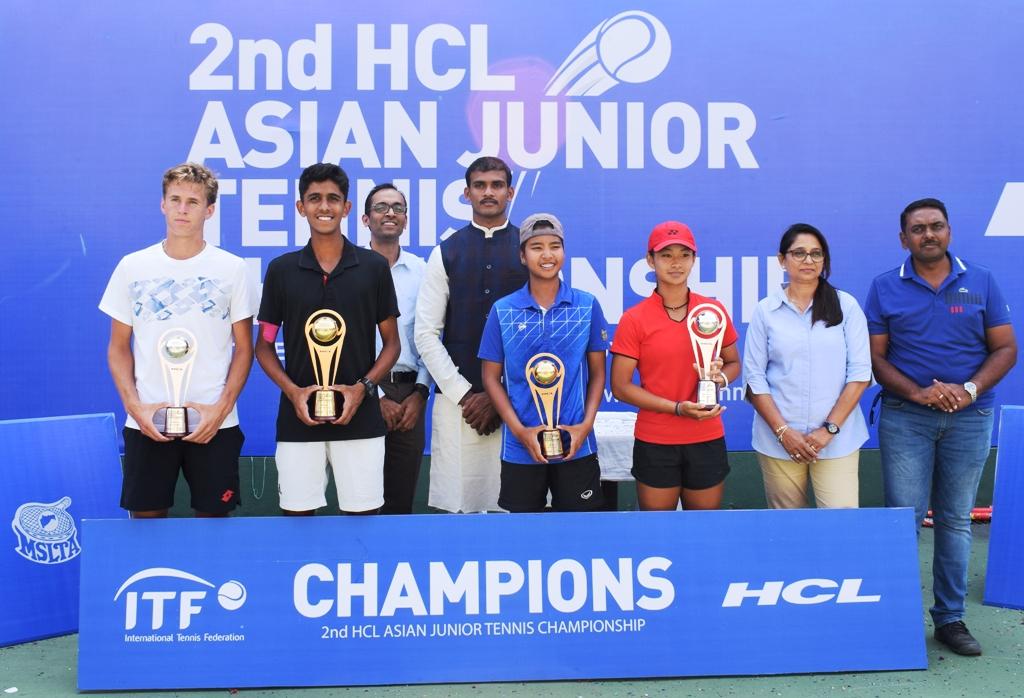 टेनिस अजिंक्यपद 2018 स्पर्धेत एकेरीत भारताच्या सिद्धांत बांठियाला विजेतेपद  थायलंडच्या मनचया सवांगकिइला दुहेरी मुकुट;