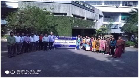 भारती विद्यापीठ ' कॉलेज ऑफ इंजिनियरिंग ' तर्फे 'एथिकल हॅकिंग  आणि सुरक्षितता ' विषयावर फॅकल्टी  डेव्हलपमेंट प्रोग्राम