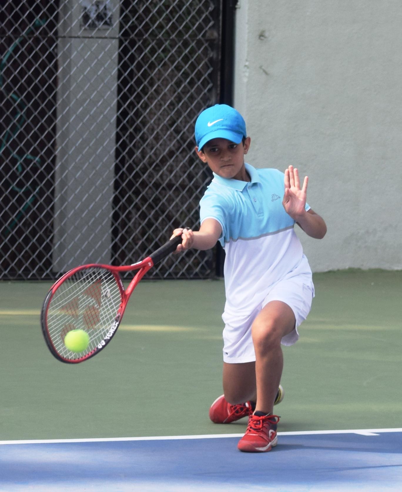 10 वर्षाखालील टेनिस स्पर्धेत आदित्य योगी, मिहीर कदम, अंशूल पुजारी यांची आगेकूच