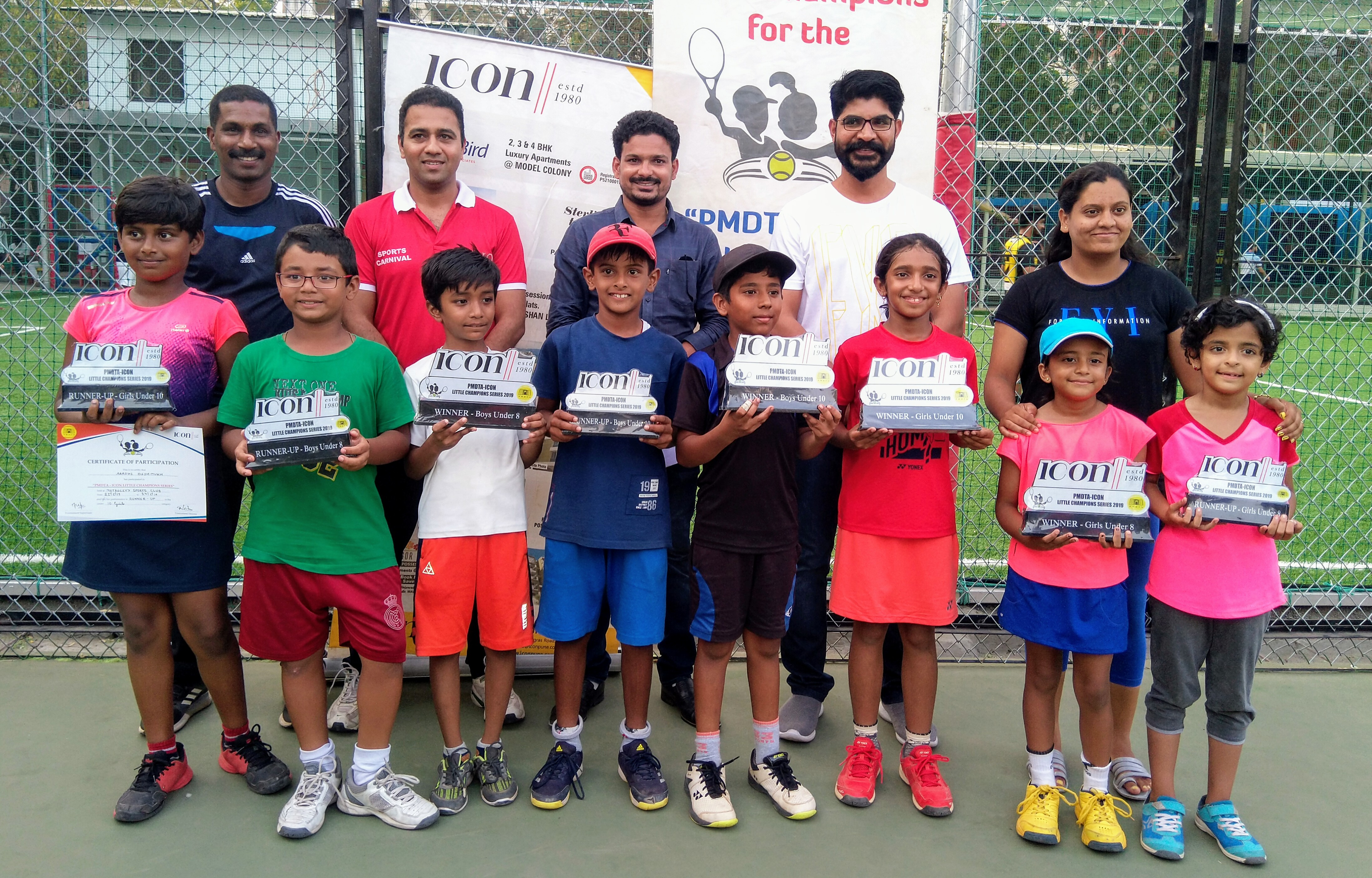 चौथ्या आयकॉन ग्रुप लिटिल  कुमार चॅम्पियनशिप सिरिज 2019 स्पर्धेत   सर्वज्ञ सरोदे ,   श्रावी देवरे ,  अथर्व येलभर,  रित्सा कोंदकर यांना विजेतेपद