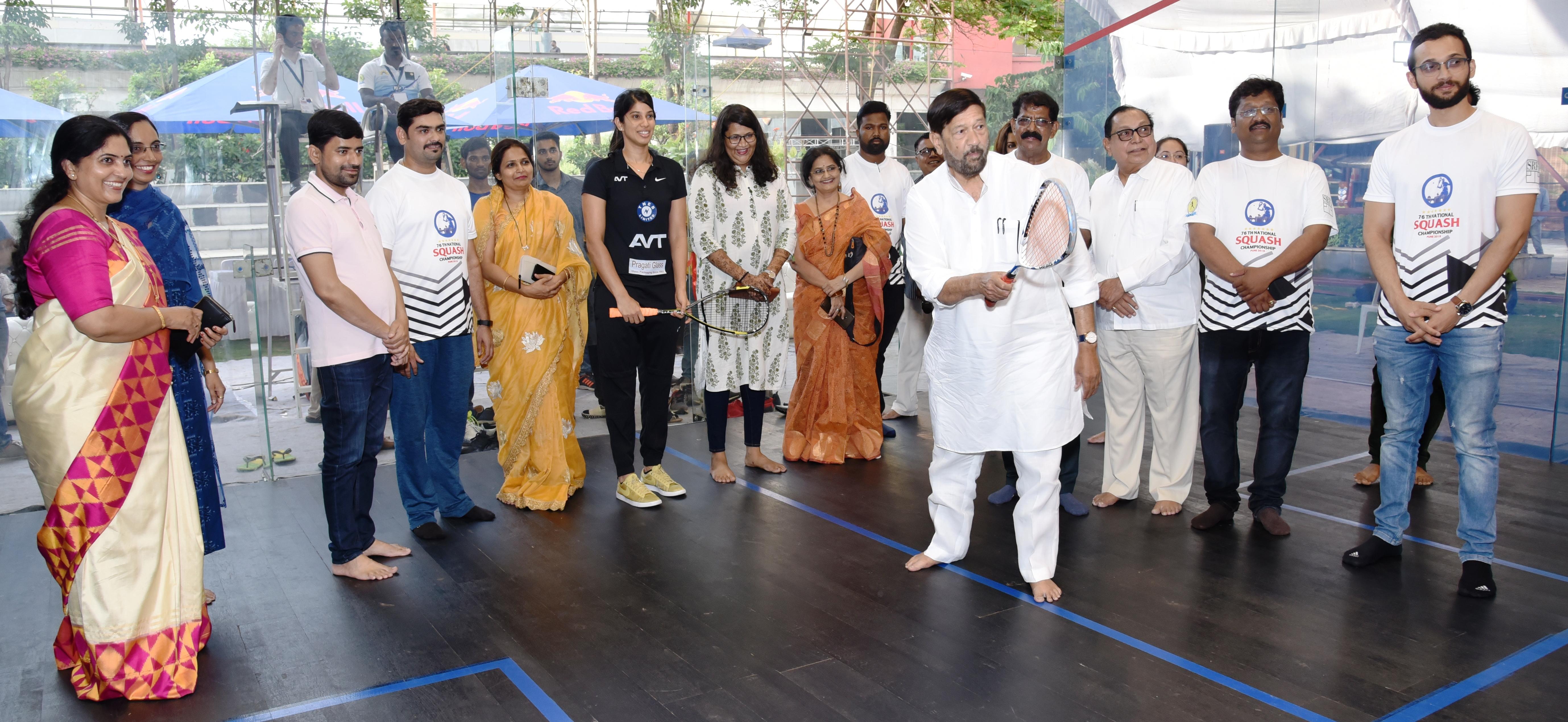 एमएसआरए 76व्या वरिष्ठ राष्ट्रीय स्क्वॅश 2019 अजिंक्यपद स्पर्धेत वीर चॊत्रानी, सुनीता पटेल यांनी उदघाटनाचा दिवस गाजवला