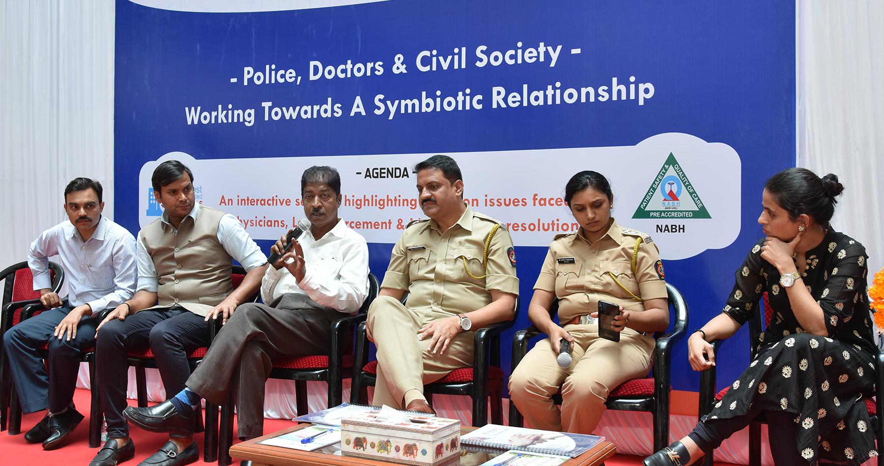 वैद्यकीय क्षेत्राची सामाजिक निकड भागविण्यास  पोलिस, डॉक्टर्स व नागरिकांचा सहयोग आवश्यक