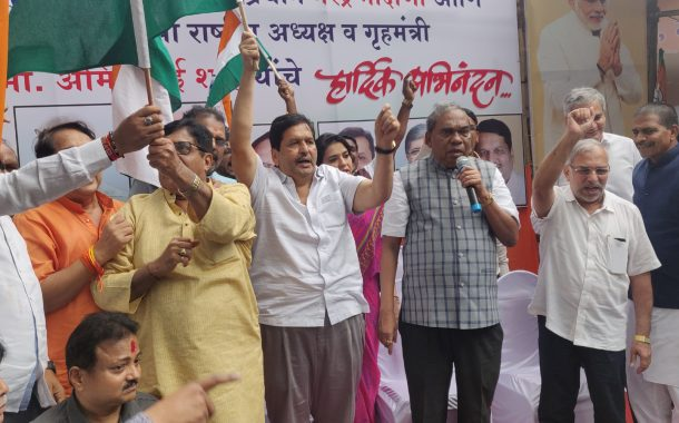 कलम ३७० रद्द; मुंबई भाजप कार्यकर्त्यांचा जल्लोष साजरा