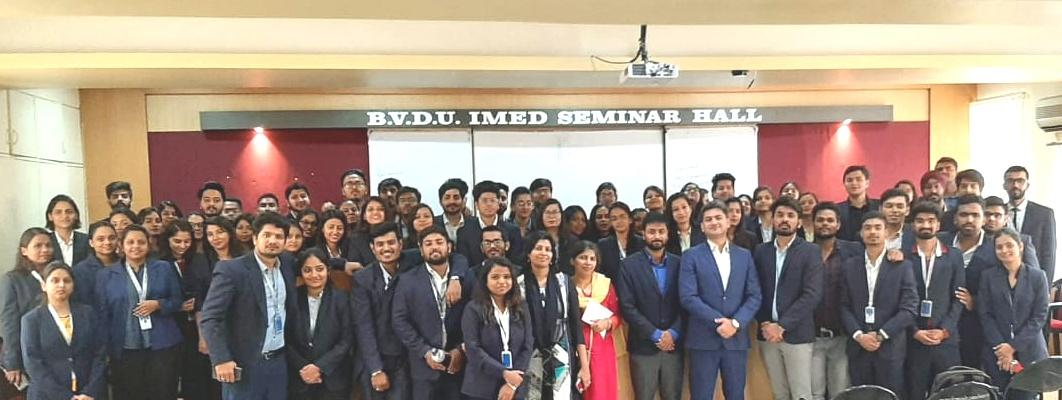 भारती  विद्यापीठ आयएमईडी मध्ये  'आंत्रप्रुनरशिप स्किल डेव्हेलपमेंट प्रोग्रॅम '
