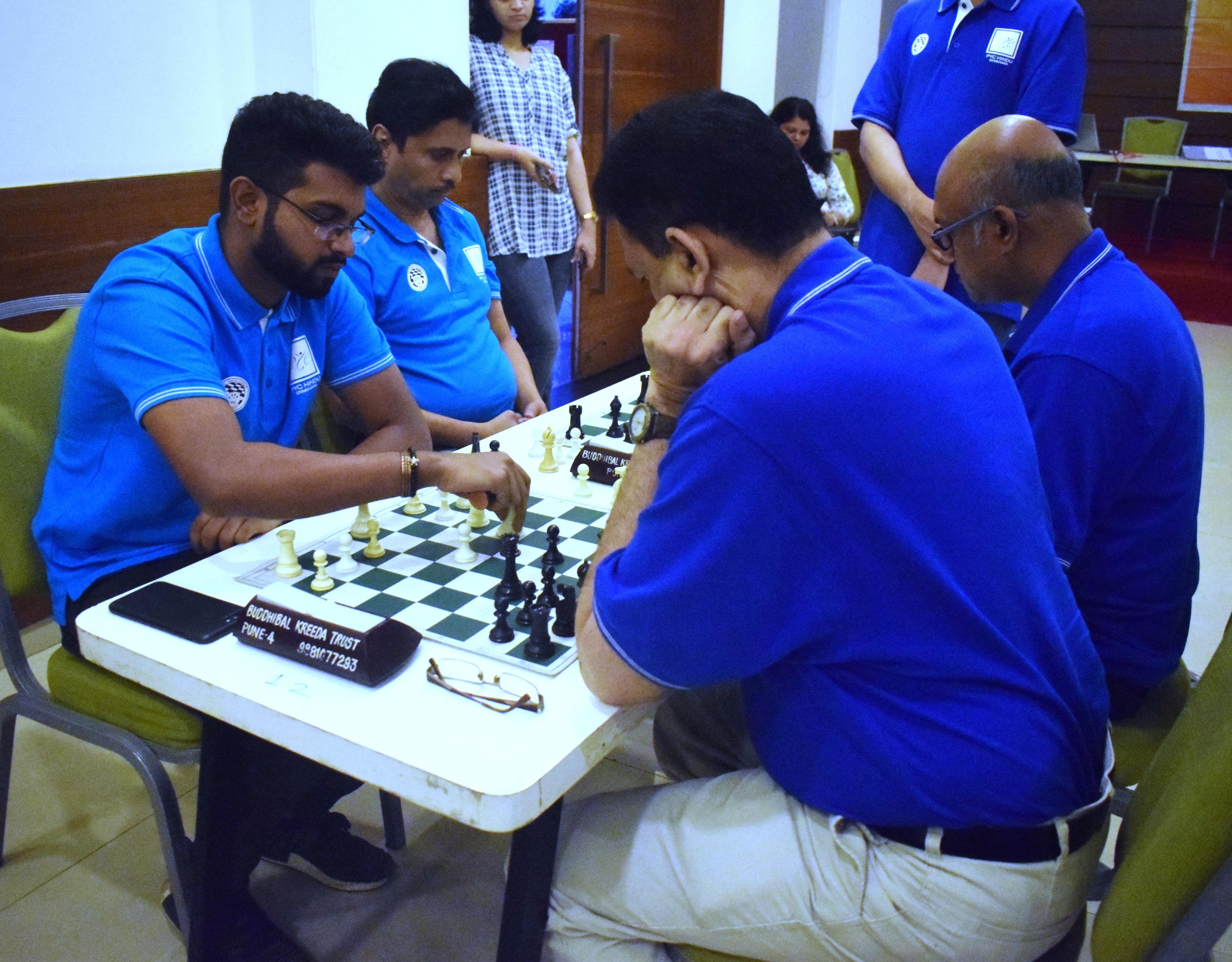 पीवायसी बुद्धिबळ लीग 2019 स्पर्धेत गोल्डन किंग, द बिशप्स चेक, 7 नाईट्स संघांचे विजय