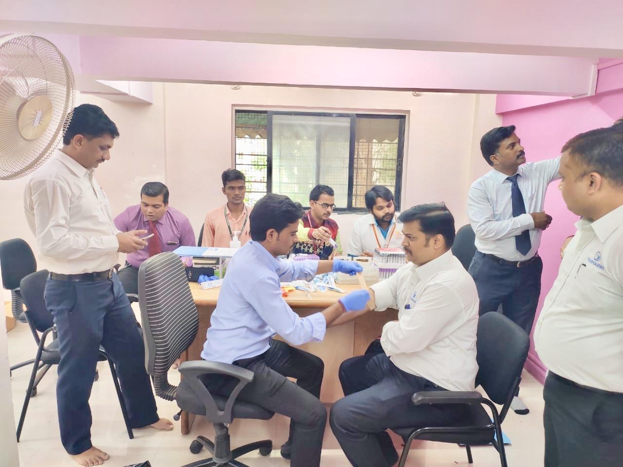 'यशस्वी' संस्थेच्यावतीने  फिट  इंडिया  मोहिमेअंतर्गत मोफत आरोग्य शिबीर संपन्न