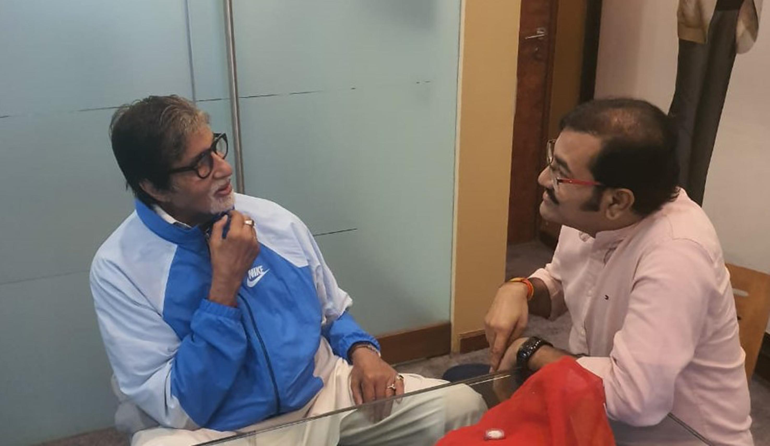 गायक सुदेश भोसले आणि महानायक अमिताभ बच्चन यांची खास भेट, सुवर्ण काळाला दिला उजाळा