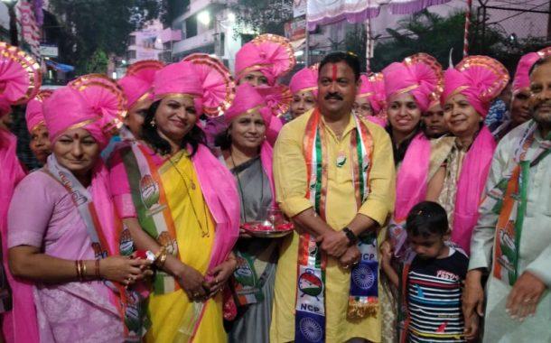 नवी पेठ,राजेंद्रनगरमधील पदयात्रेत अरविंद शिंदेंना प्रतिसाद