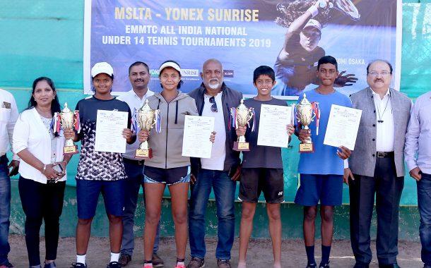 14 वर्षाखालील राष्ट्रीय टेनिस स्पर्धेत विनिथ मुत्याला,  परी चव्हाण यांना विजेतेपद