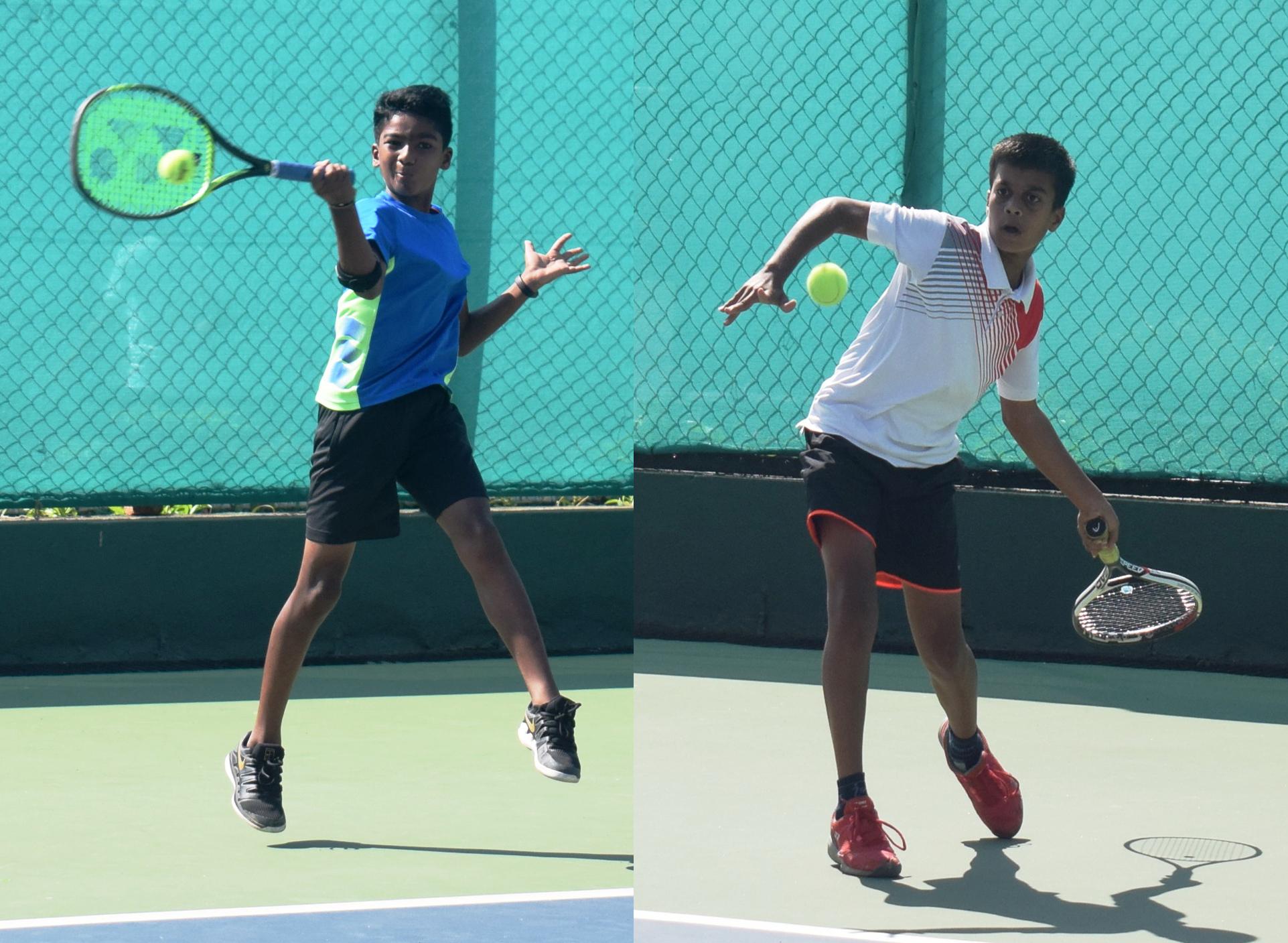 14 वर्षाखालील टेनिस स्पर्धेत विश्वजीत सणस, अभय नागराजन, ओंकार शिंदे यांची विजयी सलामी