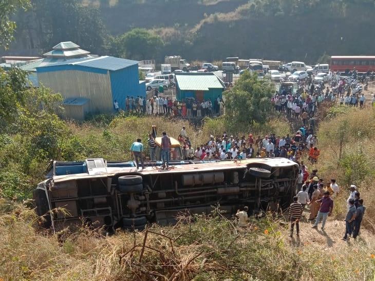 शिवशाही बस कात्रज घाटात कोसळली, एकाचा मृत्यू तर अनेकजण जखमी