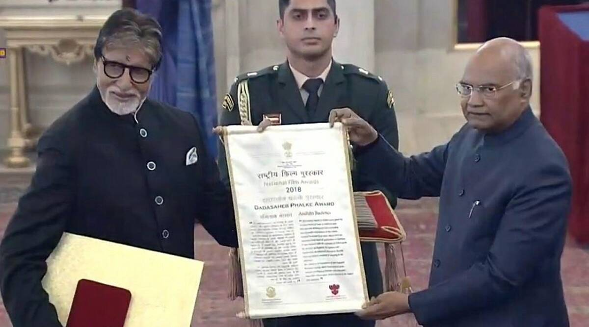 अमिताभ बच्चन यांना राष्ट्रपतींच्या हस्ते दादासाहेब फाळके पुरस्कार प्रदान