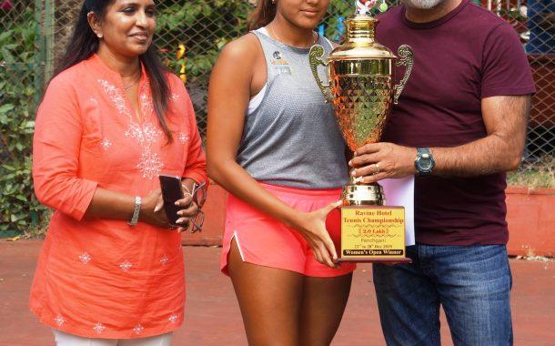 एमएसएलटीए रवाईन हॉटेल अखिल भारतीय मानांकन  2लाख रकमेच्या पुरुष व महिला टेनिस स्पर्धेत महाराष्ट्राच्या सालसा आहेरला दुहेरी मुकुटाचा मान