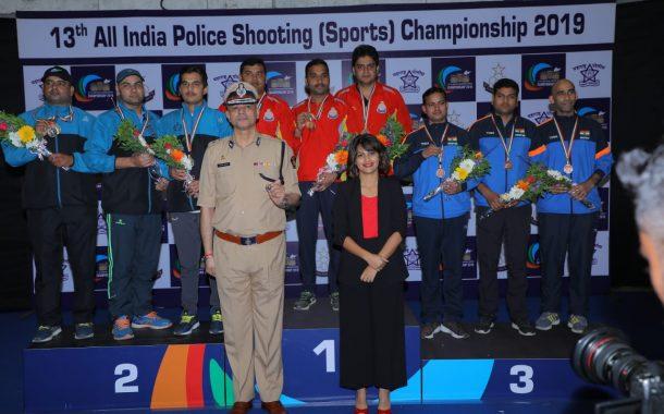 13व्या अखिल भारतीय पोलीस नेमबाजी(क्रीडा) अजिंक्यपद स्पर्धेत  बीएसएफच्या एस.के घोषला सुवर्णपदक