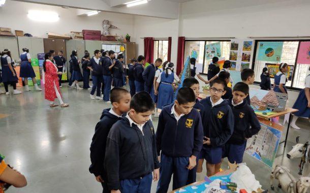 भूगोल दिनानिमित्त हवामान बदल, ओझोन, तापमान वाढ, जैववैविध्य डीईएस सेकंडरी स्कूलमध्ये प्रदर्शन