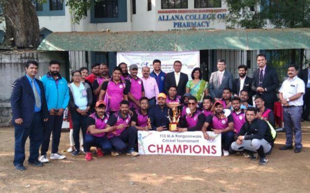 रंगूनवाला टी -टेन क्रिकेट स्पर्धेत हॉटेल सेंच्युरिअन विजयी