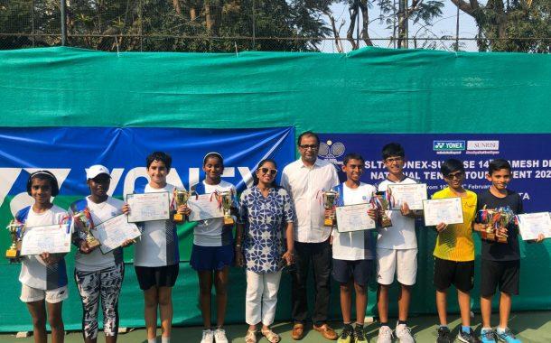 12वर्षाखालील राष्ट्रीय टेनिस स्पर्धेत अर्णव पापरकर, वेदांत भसीन, थानिया गोगुलामांडा, नैनिका रेड्डी यांना दुहेरी मुकुटाची संधी