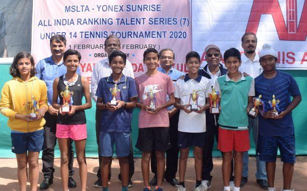 14 वर्षाखालील टेनिस स्पर्धेत अद्विक नाटेकर याला दुहेरी मुकुट -  मुलींच्या गटात सिया प्रसादे हिला विजेतेपद
