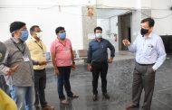 ससून हॉस्पिटलच्या नवीन इमारतीची विभागीय आयुक्त डॉ. म्हैसेकर व जिल्हाधिकारी श्री.राम यांनी केली पहाणी