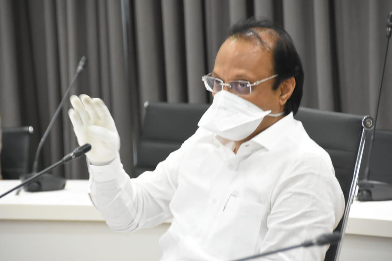 मुंबईच्या धर्तीवर कोरोनाच्या उपचारासाठी तातडीने अधिकची व्यवस्था उभी करा -उपमुख्यमंत्री अजित पवार