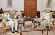 लेह दौऱ्यानंतर पंतप्रधानांनी घेतली राष्ट्रपती रामनाथ कोविंद यांची भेट