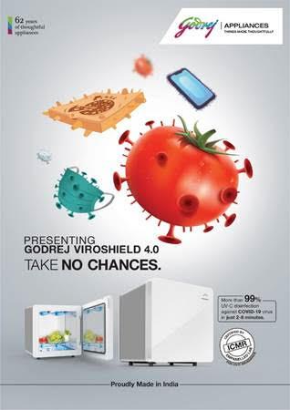 'गोदरेज अप्लायन्सेस'तर्फे आरोग्य व स्वच्छता यांसाठी 'गोदरेज व्हिरोशील्ड 4.0' सादर