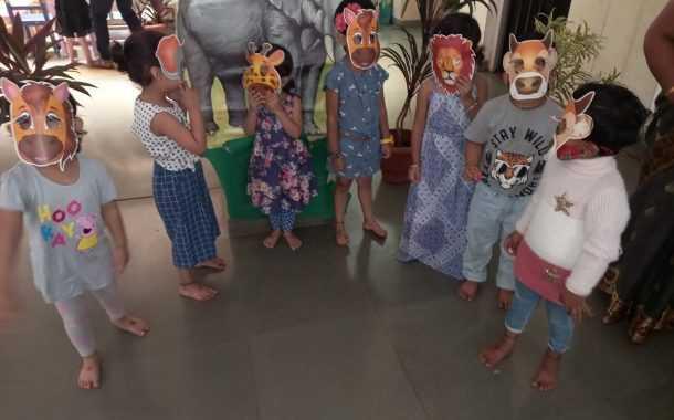 डीईएस पूर्व प्राथमिक शाळेत वन्यजीव प्राणी सप्ताह साजरा